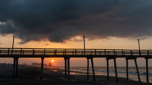 sunrise dawn margate margatecity newjersey jerseyshore beach clouds sun