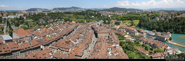 Panoramic view from the top of Berner Münster, Bern, Switzerland