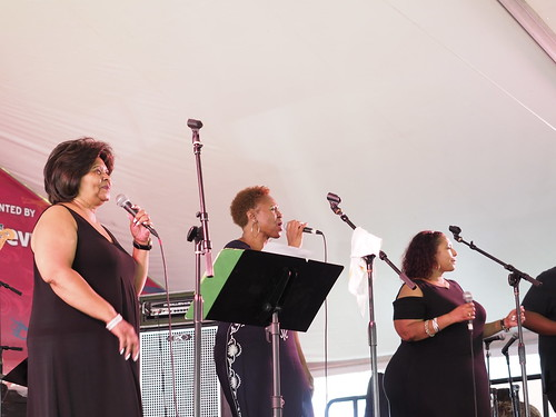 Topsy Chapman & Solid Harmony at Satchmo SummerFest - Aug. 4, 2018. Photo by Michele Goldfarb.