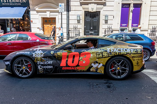 Gumball 3000 Rally 2018 : Another Ferrari in Covent Garden.