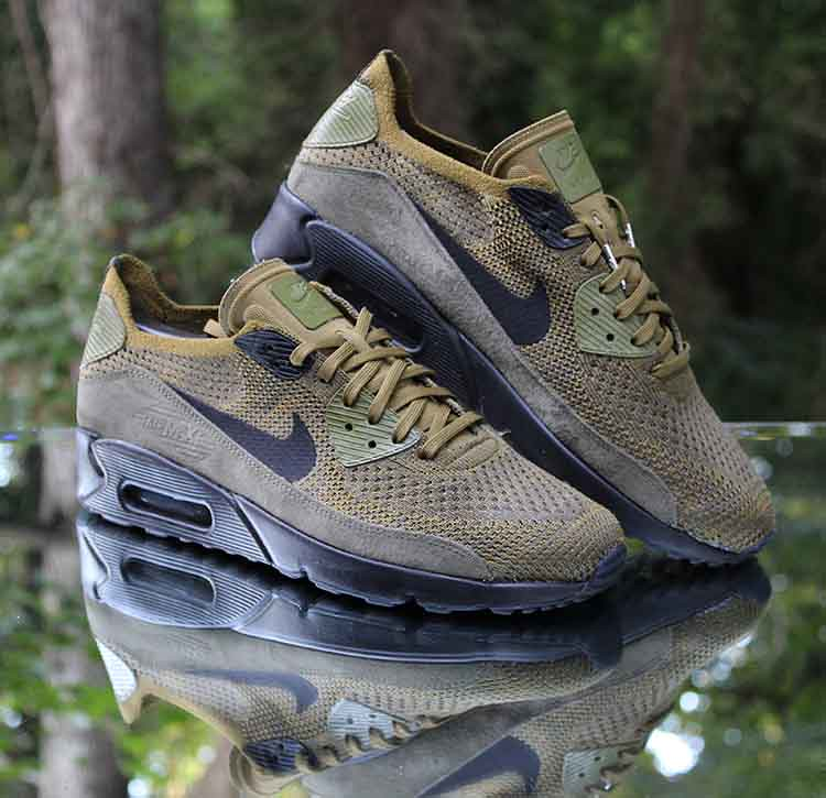Nike Air Max 90 Ultra 2.0 Flyknit Olive Flak Black 875943