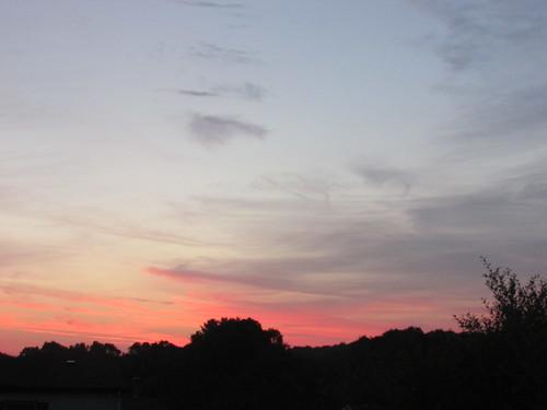 belmont west michigan summer july sunrise dawn pink sky clouds
