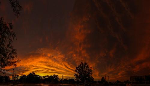panorama sunset janesville wisconsin canon 7d markii clouds