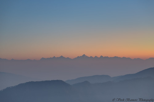 india nature uttrakhand hdr landscape panorama sunrise mountains himalayan ranges nanda devi first light rays forest