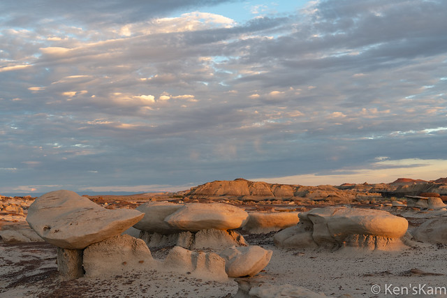 Golden hour in Bisti