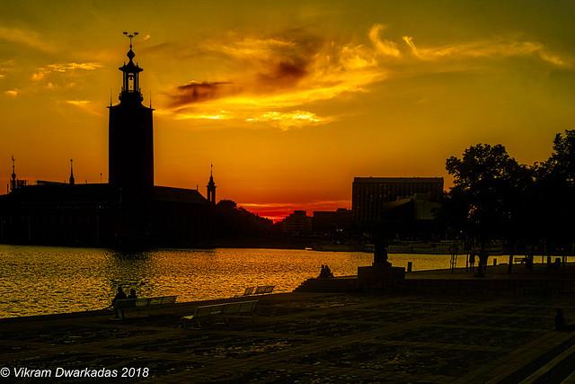 Sunset from Riddarholmen Island, Stockholm, Sweden