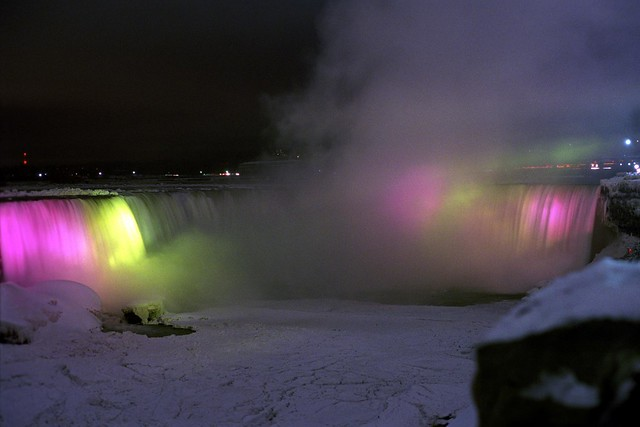 The Horseshoe Falls at Night 1