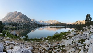 0328 Bullfrog Lake in the morning, with East and West Vidette Peaks in the distance | by _JFR_