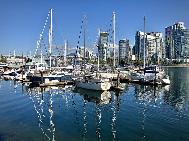 Boats on False Creek
