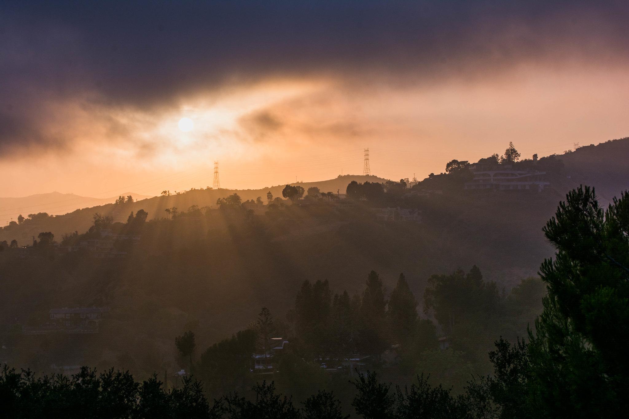 Light Touching The Hills