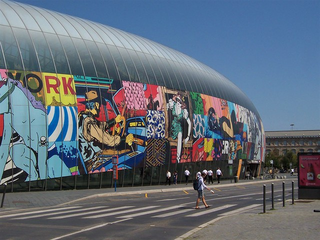 Strasbourg station - pop art collage