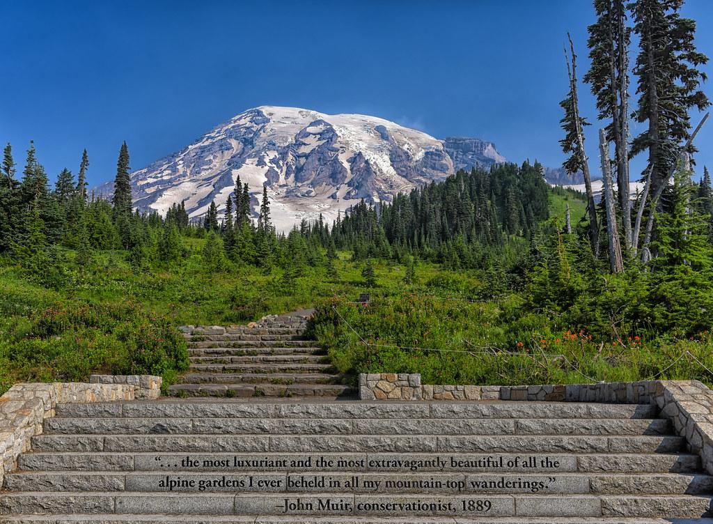 john muir s stair quote as one begins their hike on mt ra flickr
