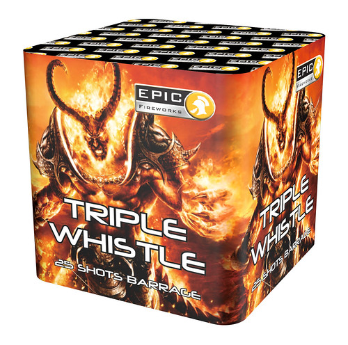 TRIPLE WHISTLE 25 SHOT BARRAGE #EpicFireworks
