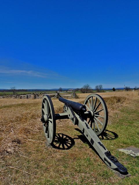 Union Artillery on Cemetery Ridge