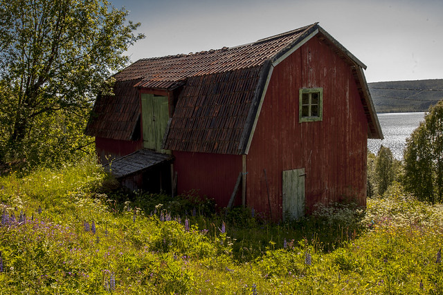 Old wooden farm building