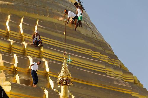 buddhisttemple pagoda buddhism myanmar thaton asia theravada shwesaryanpaya birma budda buddha buddhist buddism buddist burma