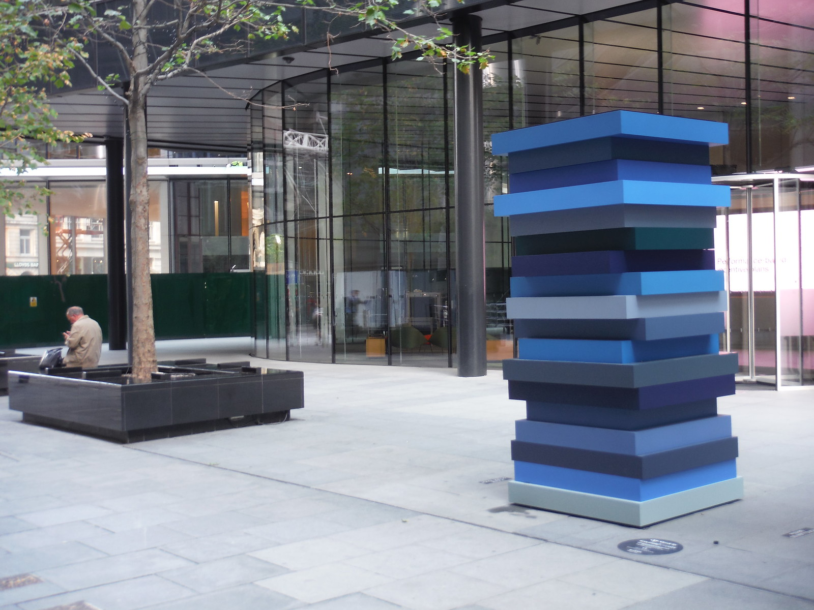 Sean Scully - Stack Blues SWC Walk Short 24 - Sculpture in the City
