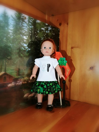 Irish Dance doll T shirt and skirt For 18 inch dolls www.etsy.com/shop/stitchcottage   by Stitchcottage