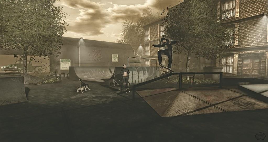 Skateboarding around her | SK8 Life 2 Gacha set by [Bad Unic