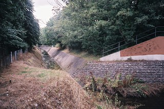 Hengrove Brook, storm drain   by knautia