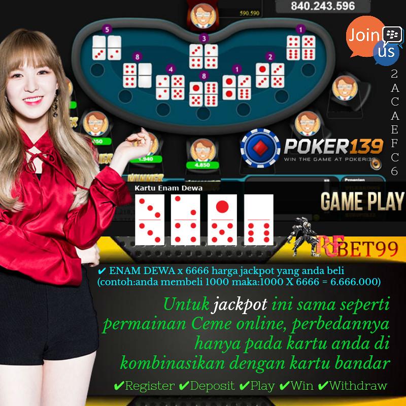 rfbet99 | JACKPOT CEME POKER139 Untuk jackpot ini sama