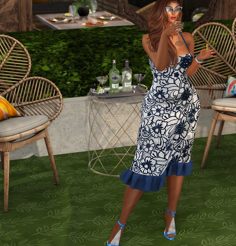 LEGENDAIRE @ Designer Showcase - Aisha Pencil Dress & Aisha Heels | by Xiomara Lavendel
