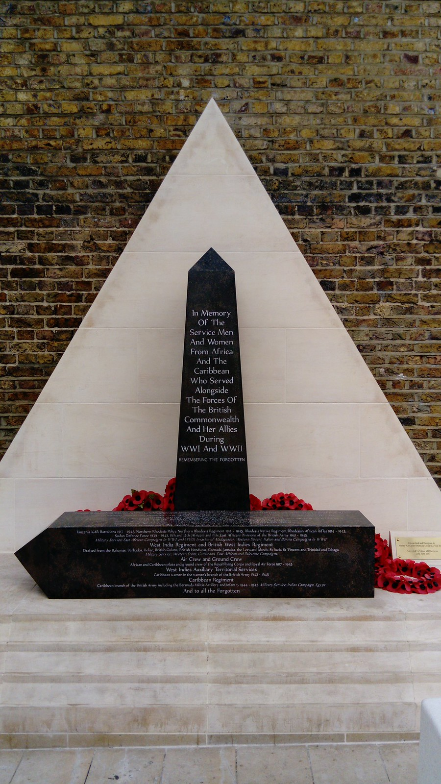 War Memorial for Men and Women from Africa and the Caribbean, Windrush Square Brixton SWC Short Walk 39 - Brockwell Park (Herne Hill Circular or to Brixton)