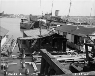 Houseboats on Lake Union, 1963