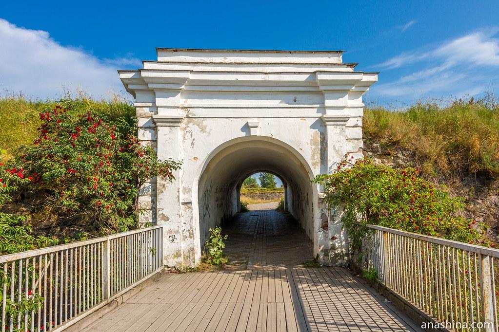 Внешние Фридрихсгамские (Равелинные) ворота и Анненский мост, Анненские укрепления, Выборг