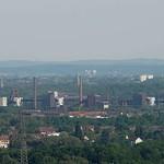 Kokerei Zollverein, Essen, vom Tetraeder aus gesehen - Entfernung der Kokerei Zollverein circa 6,7 Kilometer