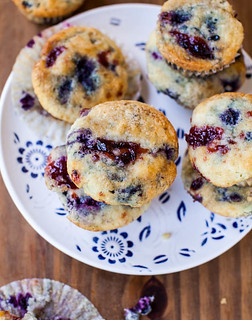 37 - Coconut Blueberry and Cranberry Muffins Recipe | by Onlinefoodblog