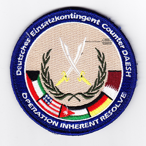 Deutsches Einsatzkontingent Counter Daesh Operation Inherent Resolve Luftwaffe German Air Force Patch