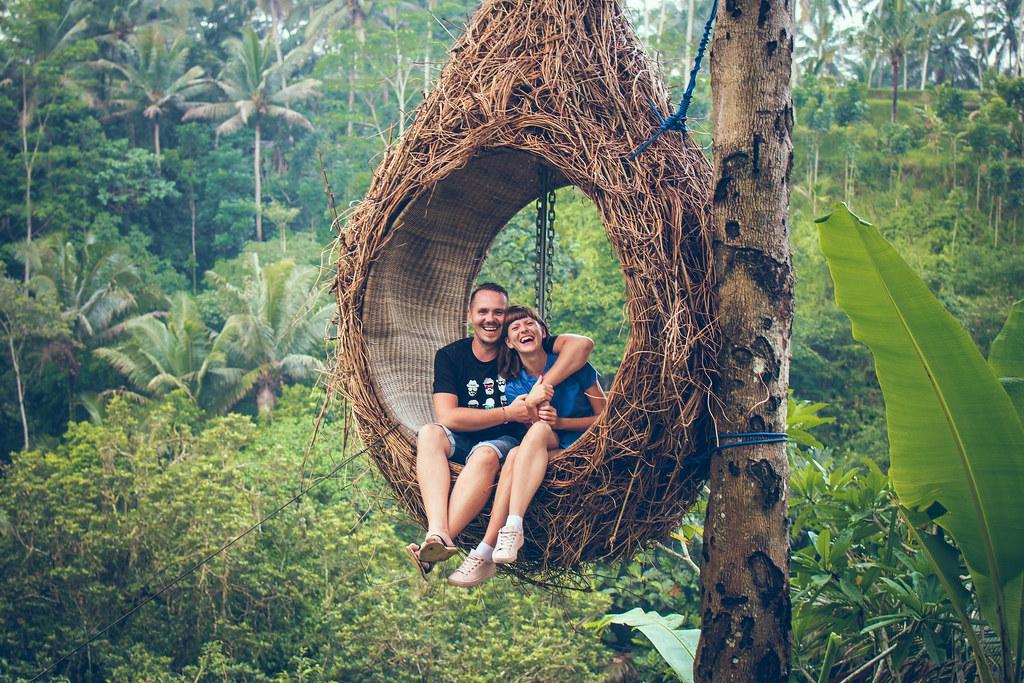 Traveler Honeymoon Couple In The Jungle Of Bali Island In Flickr
