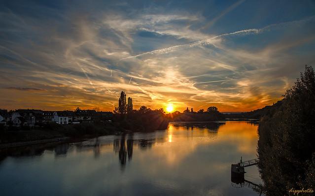 Sunset at Rhine