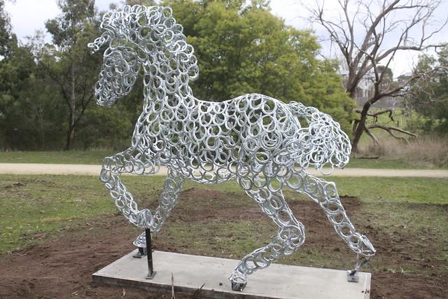 Horse Shoe Horse sculpture