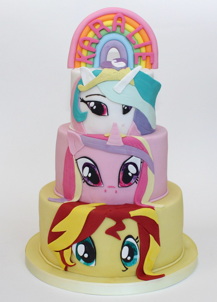 Miraculous My Little Pony Cake A Photo On Flickriver Funny Birthday Cards Online Alyptdamsfinfo