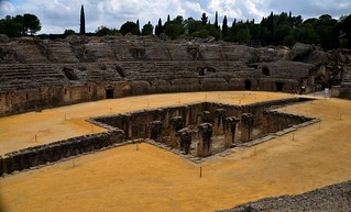 Ruins of the Roman amphitheater of Italica   by tonyfernandezz