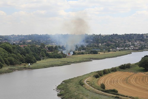 Sea Mills grass fire, from Horseshoe Bend | by knautia