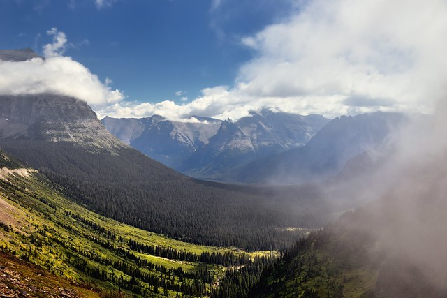 Clouds Were Drifting Through the Skies (Glacier National Park