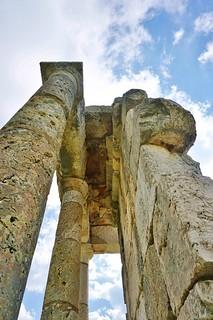 Ruins of Roman temple in Machnaga, Lebanon