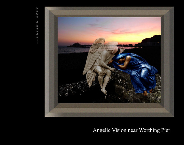 Angelic vision near Worthing Pier by howard kendall