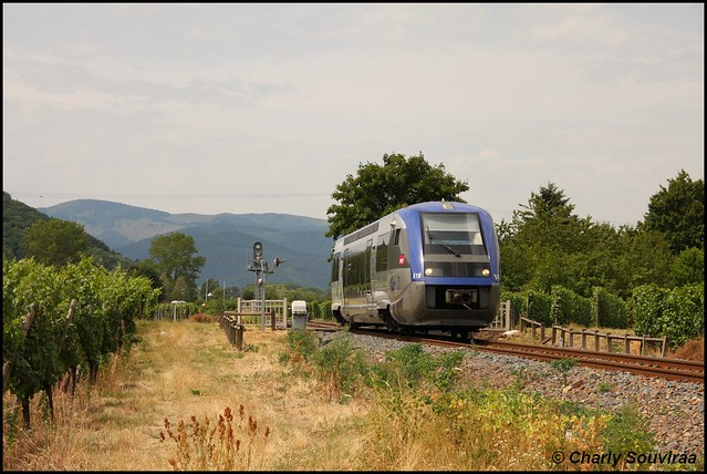 Le X 73519 à Turckheim le 04 juillet 2014, TER Metzeral - Colmar.