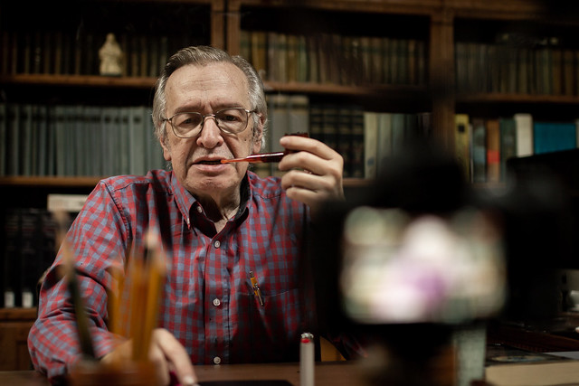 Olavo em gravação do COF - Foto: Mauro Ventura