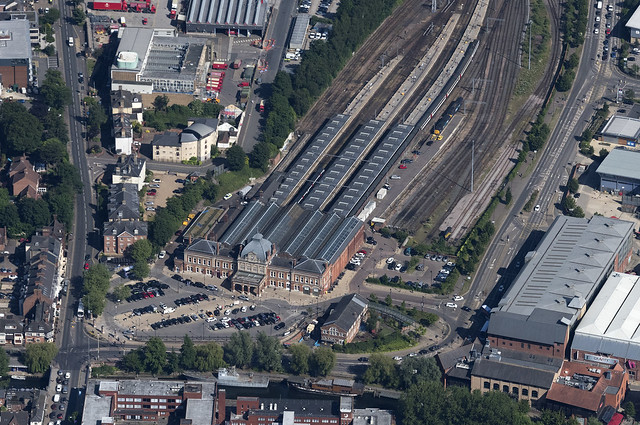 Norwich Train Station - aerial