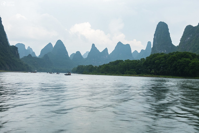 Yangshuo River Boating Landscape Overcast Travel