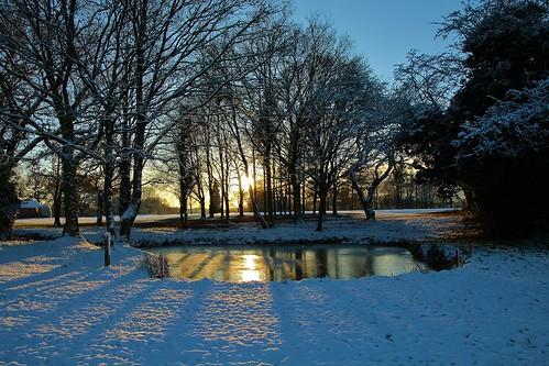 europe england cheshire nature sunset simplysuperb snow sunlight shadows winter trees