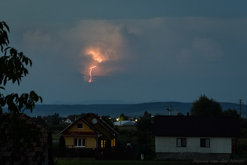 lightning lightningbolt storm thunderstorm electricity romania transylvania weather 50mm bluehour sky