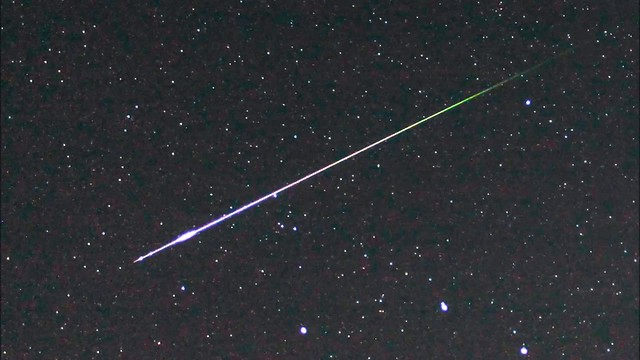 Perseid Meteor and Ionization Cloud 1am BST 11/08/18