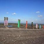 Ein Teil der Installation Totems auf der Halde Haniel in Bottrop