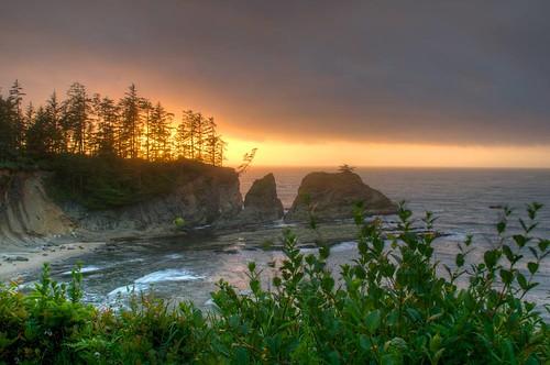 coast hdr karl landscape sun travel oregon coosbay usa
